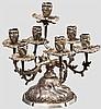 Siebenarmige Girandole aus einer Fürstlichen Silberkammer, deutsch um 1760