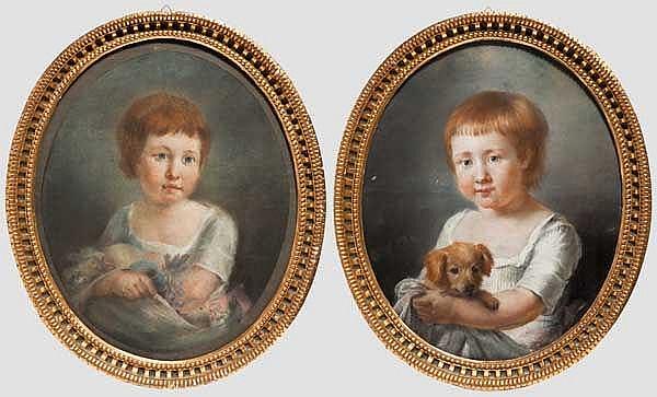 Zwei Kinderportraits, USA um 1920