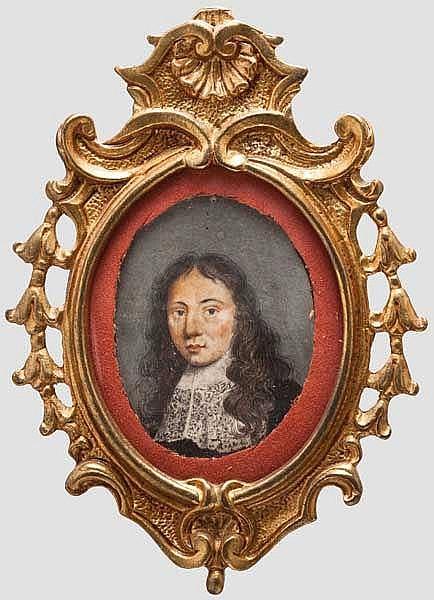Portrait-Miniatur, 17. Jhdt.