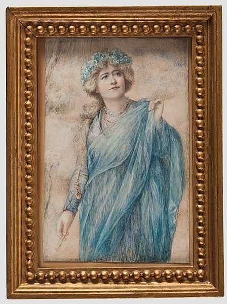 Miniatur der Lady Ellen Terry, englisch um 1880