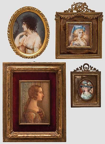 Vier Miniaturen, 19. Jhdt.