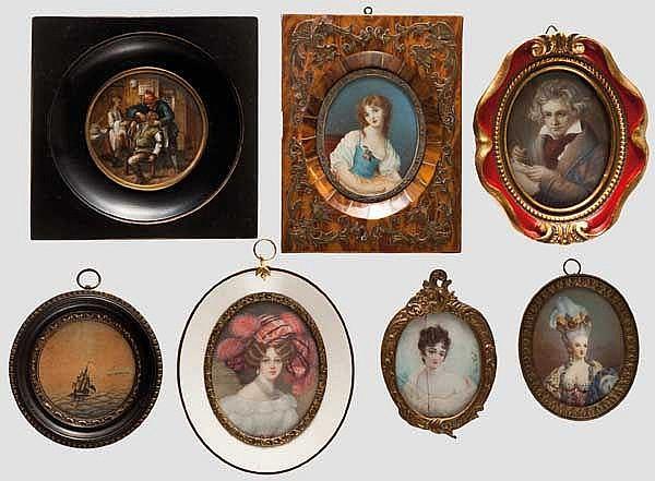 Sieben Miniaturen, 19./20. Jhdt.