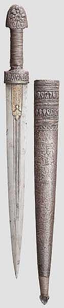 Silbermontierter Kinzal, osmanisch um 1840