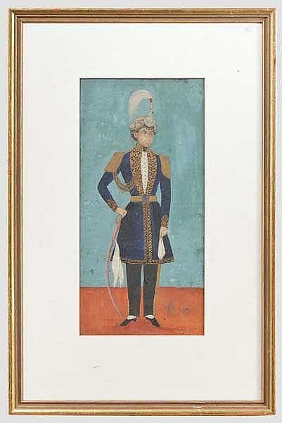 Portrait eines Maharadschas von Nepal, 19. Jhdt.