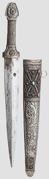 Silbermontierter Kinzal, osmanisch, 19. Jhdt.