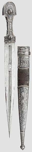Silbermontierter Kinzal, osmanisch, datiert 1898