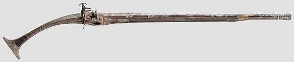 Miqueletgewehr mit in Silber eingelegtem Lauf, Albanien um 1800