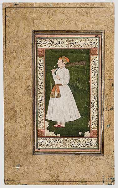 Portraitminiatur eines Maharadschas, Indien, 18. Jhdt.