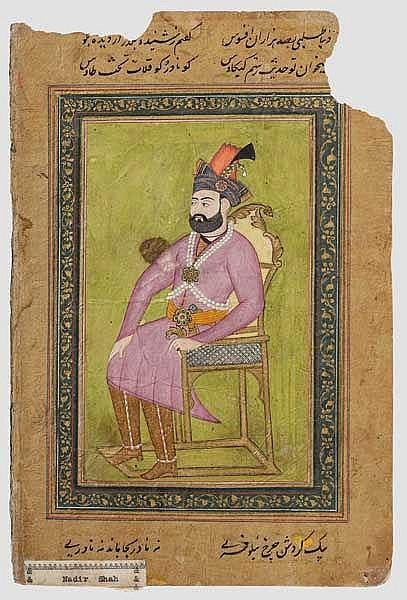 Portraitminiatur, Indien, 19. Jhdt.