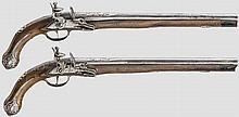 Ein Paar silbermontierte Steinschlosspistolen für den orientalischen Markt, Brescia um 1790