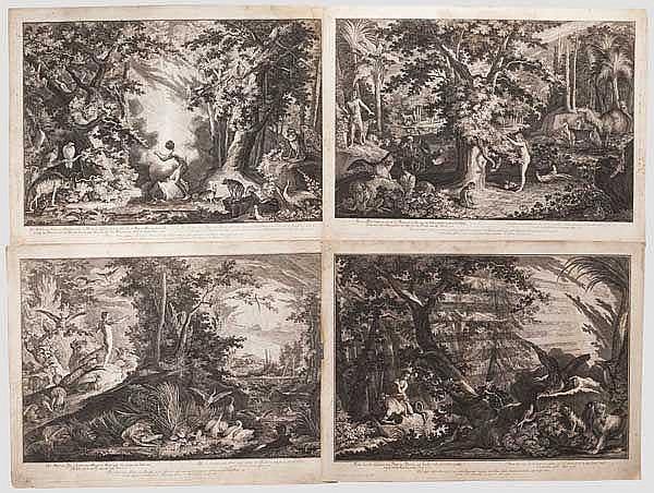 Johann Elias Ridinger (1698 - 1767) – 12 Radierungen