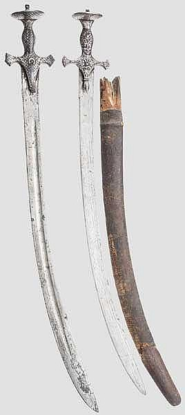 Zwei Tulware, Indien um 1800