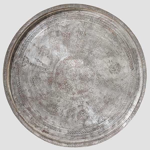 Tablett mit armenischer Inschrift, osmanisch um 1900