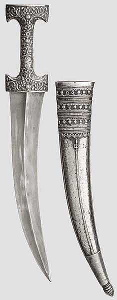 Große, silbermontierte Djambia, osmanisch, Ende 18. Jhdt.
