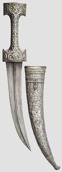 Silbermontierte Djambia, osmanisch um 1780