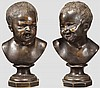 Ein Paar Kinder-Charakterköpfe in der Art des Franz-Xaver Messerschmidt, deutsch um 1800