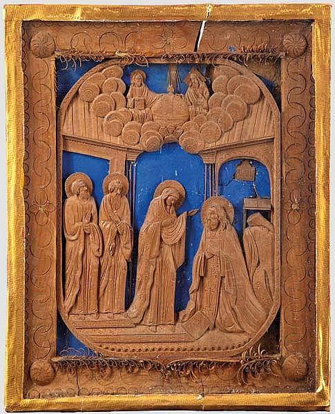 Heiligenbild, vermutlich griechisch-orthodox um 1800