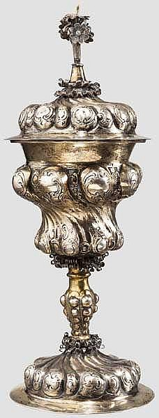 Buckelpokal im Stil des 16. Jhdts., deutsch, wohl Hanau um 1860