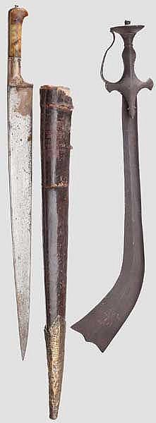 Kora und Khybermesser, Nepal bzw. Afghanistan, 19. Jhdt.