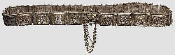 Silbergürtel, Indien um 1900
