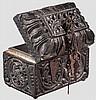 Geschnitzte Holzkassette, Indien, 17. Jhdt.
