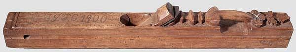 Großer Zimmermannshobel, Frankreich, datiert 1900