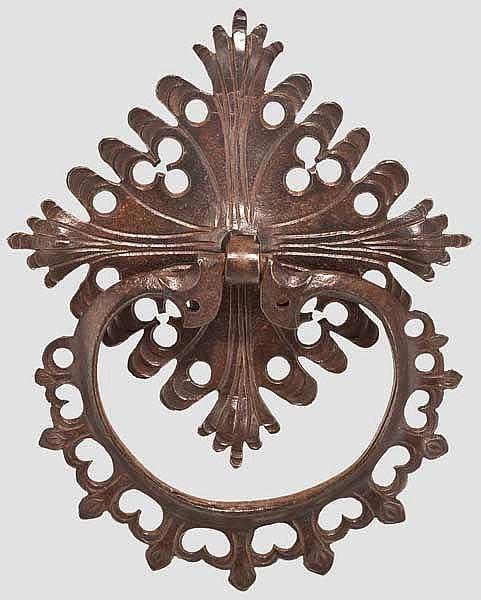 Gotischer Möbelbeschlag, süddeutsch um 1500