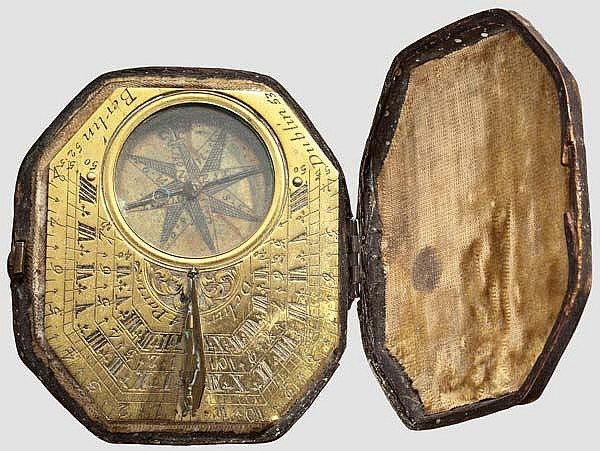 A sundial in its case, Paris, 18th century