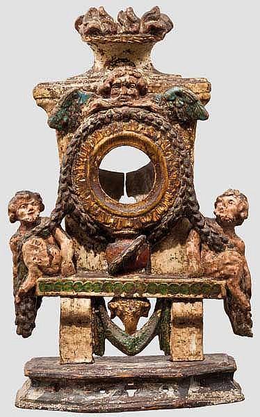 Uhrenständer für Spindeluhren, Italien oder Frankreich, 2. Hälfte 18. Jhdt.