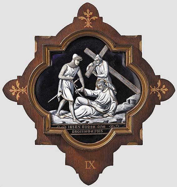 Zwei Kreuzwegstationen Christi, Frankreich, 19. Jhdt.