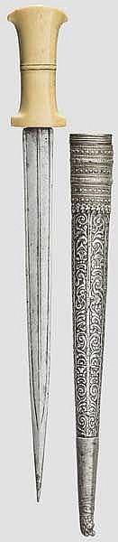 Silbermontierter Dolch, osmanisch um 1800