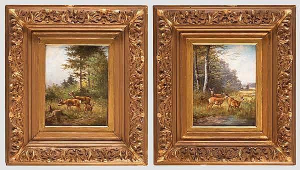 Moritz Gustav Müller d.Ä. (1841 - 1899), München - ein Paar Gemälde