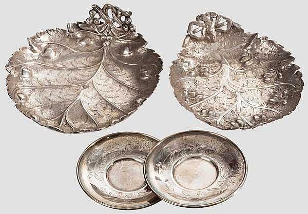 Vier Silberteile, osmanisch, Ende 19. Jhdt.