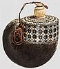 Eingelegtes Pulverhorn, Indien um 1900