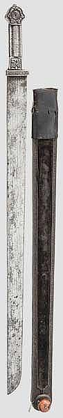 Korallenbesetztes Schwert, Tibet, 19. Jhdt.