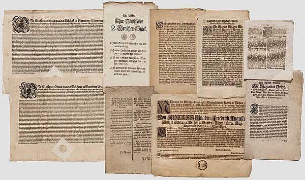 Sammlung Dekrete und Flugschriften, deutsch 16. - frühes 19. Jhdt.