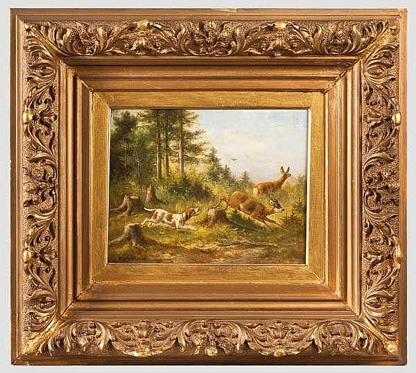 Moritz Gustav Müller d.Ä. (1841 - 1899), München - jagdliches Gemälde