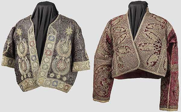 Zwei bestickte Jacken, osmanisch um 1900