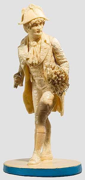 Elfenbeinfigur in Form eines Kavaliers, Frankreich, 19. Jhdt.