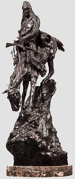 Mountain Man-Bronzefigur nach Frederic Remington, 20. Jhdt.