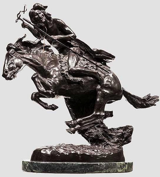 The Cheyenne-Bronzefigur nach Frederic Remington