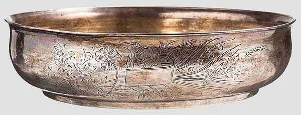 Große Silberschale, osmanisch, 19. Jhdt.