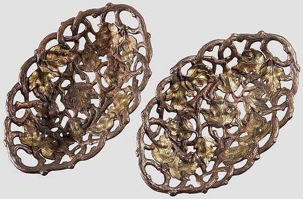 Ein paar Zierschalen, Gießerei Blansko Graf Salm um 1880