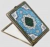 Emaillierte, silberne Zigarettenbox, Persien, 1. Hälfte 20. Jhdt.