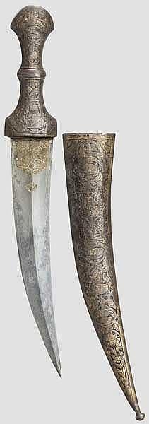 Gravierte Djambia, Persien, 19. Jhdt.