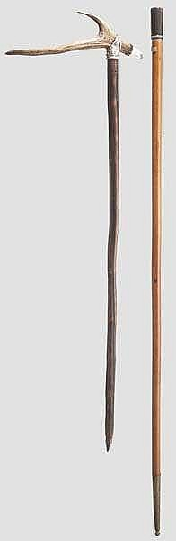 Zwei Spazierstöcke, deutsch um 1800 bzw.1900