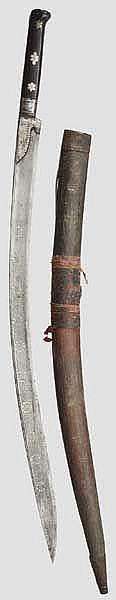 Silbereingelegter Yatagan, osmanisch, 18. Jhdt.