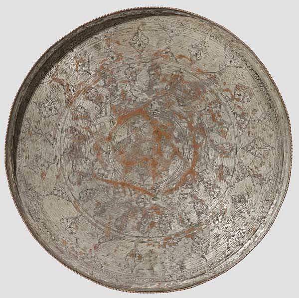 Kupfertablett, Persien/Afghanistan, 1. Hälfte 20. Jhdt.