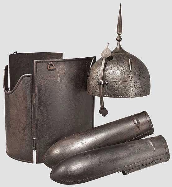 Rüstungsgarnitur, Indien/Persien, 19. Jhdt.