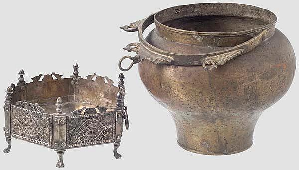 Zwei Gefäße, Mangal, Kadjarzeit, 19. Jhdt.